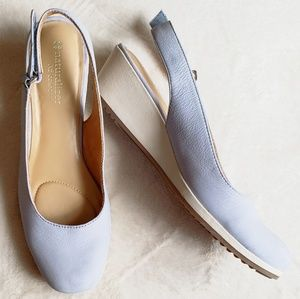 "Naturalizer Blue Leather Slingback Bridget 2"" Heel"
